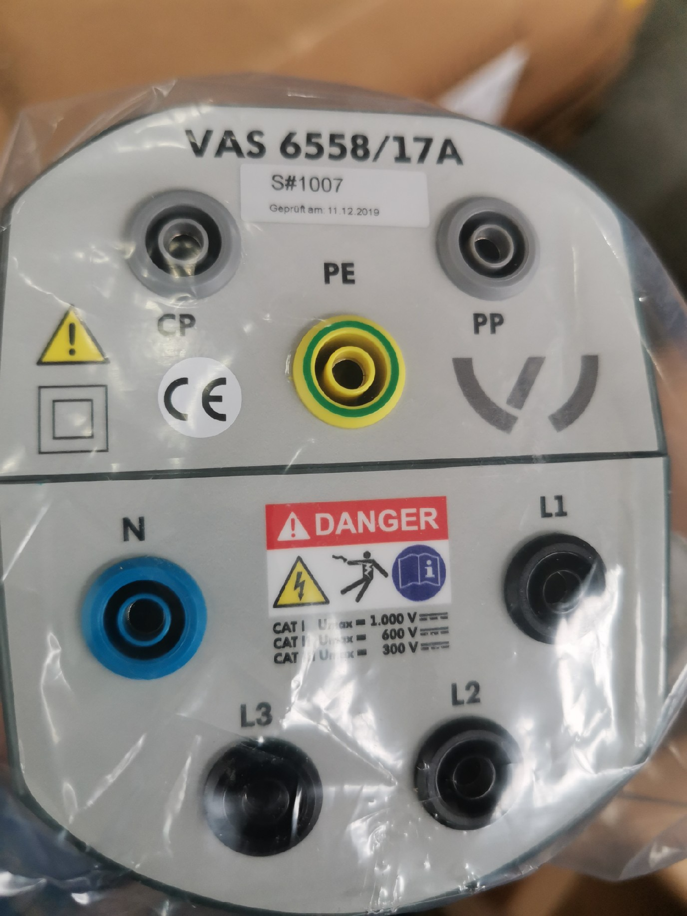 VAS 6558/17A 用于在中國充電插座(AC)上進行測試